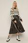 Sweter damski z półgolfem wzorzysty czarny