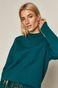 Sweter damski z półgolfem zielony