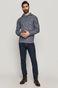 Sweter męski z wzorzystej dzianiny niebieski