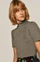 T-shirt damski z golfem szary