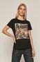 T-shirt damski z bawełny organicznej z nadrukiem The Beatles czarny