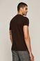 T-shirt męski Basic brązowy