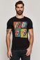 T-shirt męski z bawełny organicznej z nadrukiem The Rolling Stones czarny