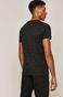 T-shirt męski bawełniany w drobny wzór czarny