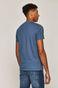 T-shirt męski z bawełny organicznej z nadrukiem niebieski