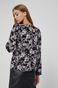 Bluzka damska w kwiatowy wzór czarna