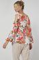 Wzorzysta bluzka damska z z fantazyjnymi rękawami