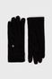 Rękawiczki z gładkiej dzianiny damskie czarne