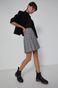 Plisowana spódnica mini w kratkę szara