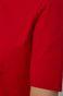 T-shirt damski z golfem z bawełny organicznej czerwony