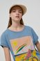T-shirt bawełniany damski by Ewelina Gąska, Summer Posters turkusowy