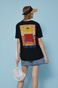 T-shirt bawełniany damski by Ewelina Gąska, Summer Posters czarny