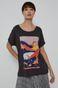 T-shirt damski z bawełny organicznej by Ewelina Gąska Grafika Polska szary