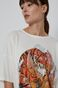 T-shirt bawełniany by Sebastian Rubiano, Grafika Polska kremowy