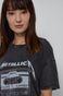 T-shirt bawełniany damski z nadrukiem Metallica czarny