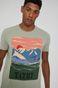 T-shirt męski z bawełny organicznej by Justyna Frąckiewicz, Summer Posters zielony
