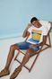 T-shirt męski z bawełny organicznej by Ewelina Gąska,  Summer Posters biały