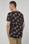 T-shirt męski z bawełny organicznej Barong Mask czarny