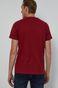 T-shirt męski z bawełny organicznej czerwony