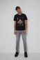 T-shirt bawełniany męski z nadrukiem Aerosmith szary