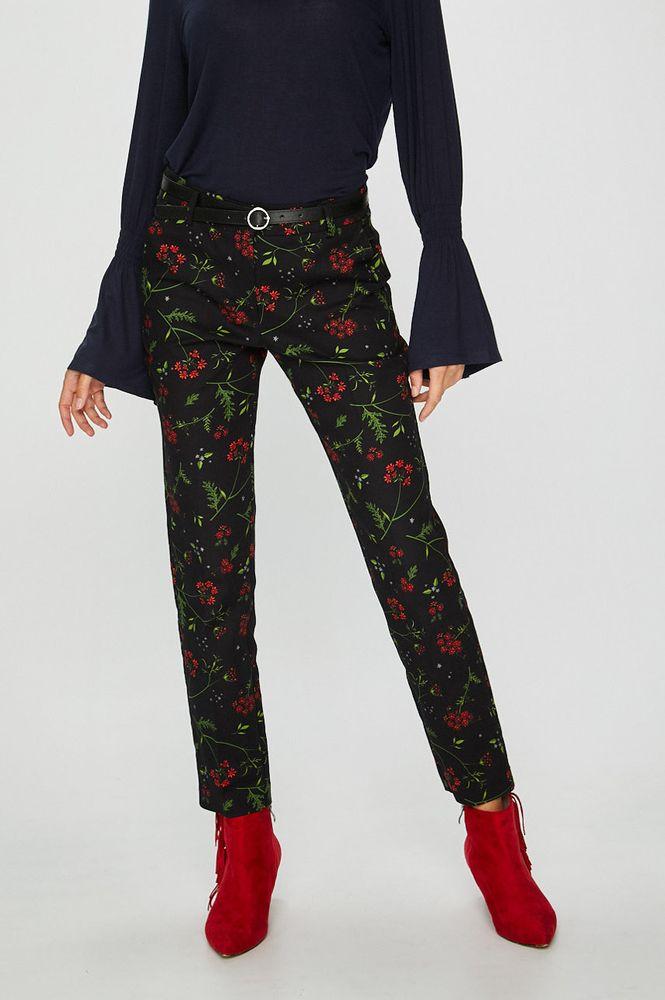 7cef870c Spodnie damskie proste czarne w kwiaty – Medicine Everyday Therapy