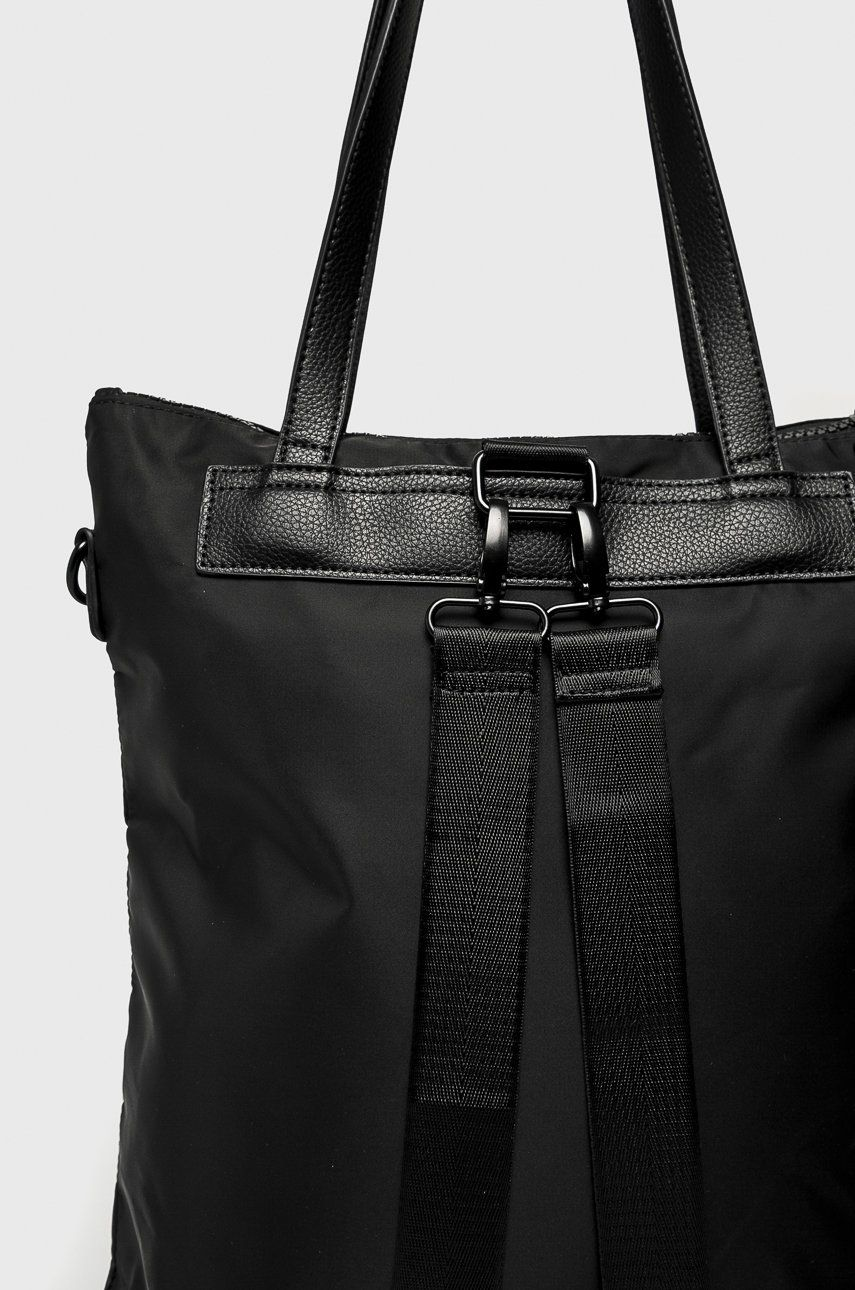 d044cf892ccd3 Torebka damska z opcją noszenia jako plecak czarna